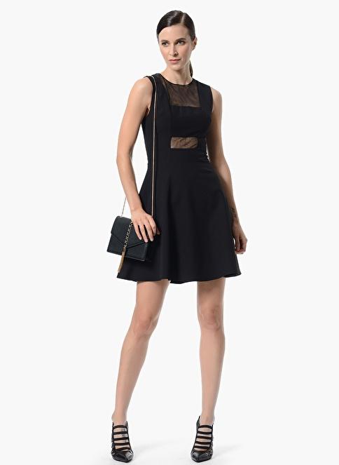 Network Kolsuz Kloş Elbise Siyah